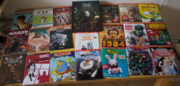 Gratis Comic Buch Tag Ausbeute in 2014